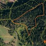 mapa ortofoto s vyznacenim